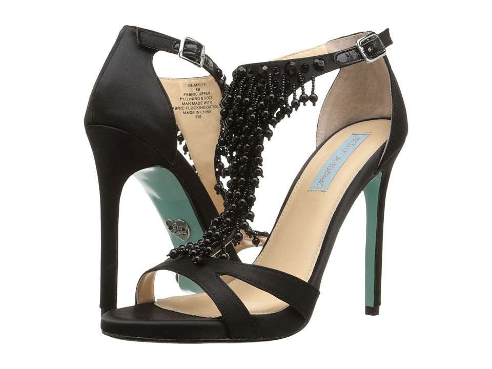 Blue by Betsey Johnson Mavyn (Black Satin) High Heels