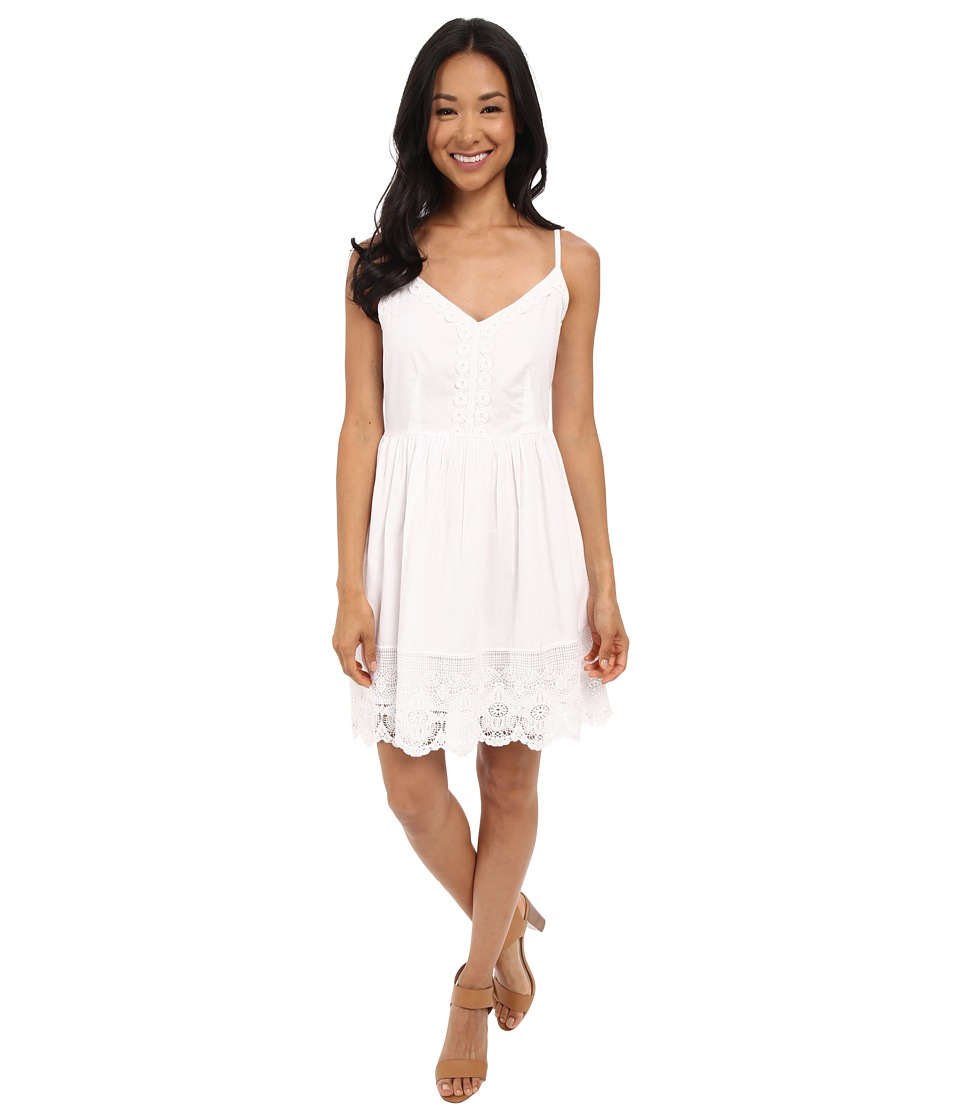 Brigitte Bailey - Cara All Over Lace Dress (White) Women's Dress