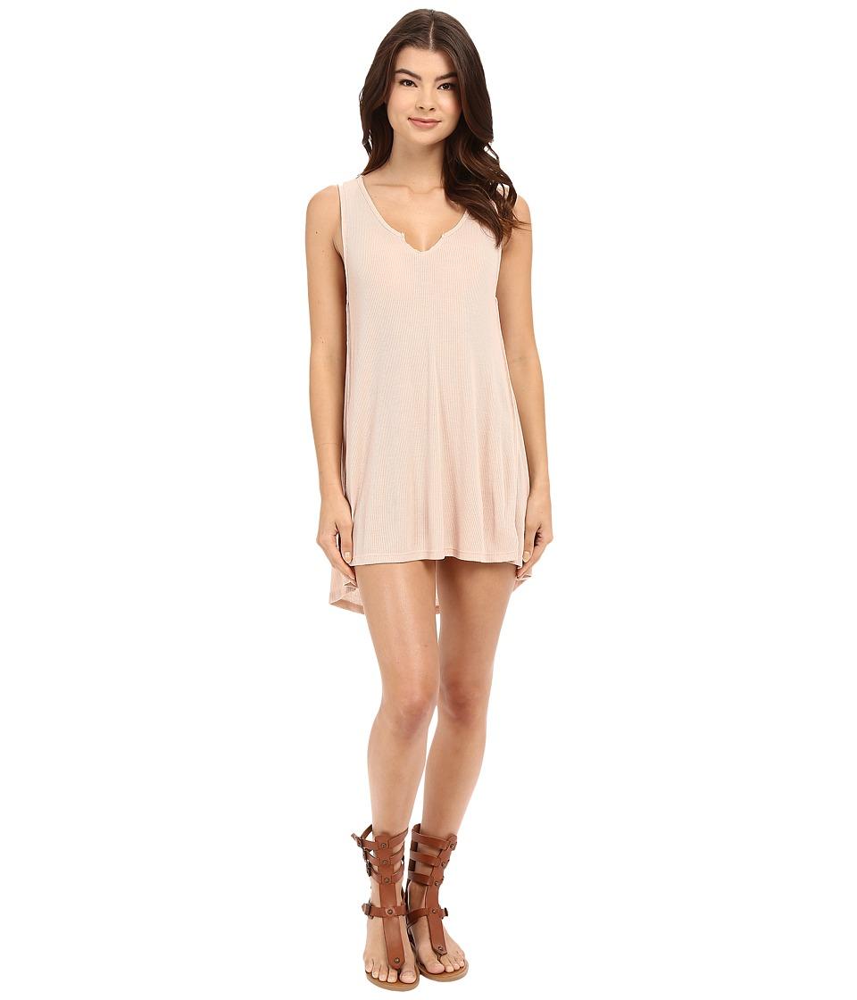 Culture Phit Christian Sleeveless Ribbed Dress (Blush) Women