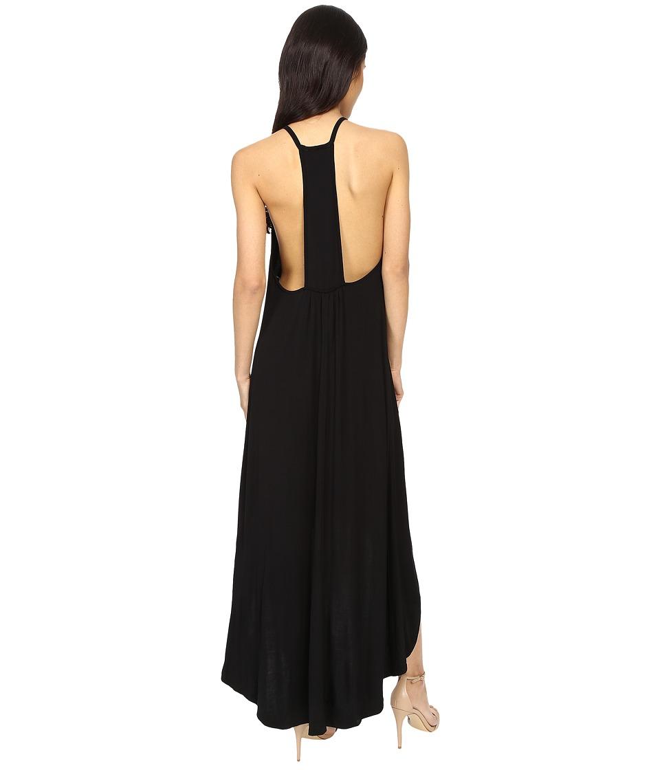 Culture Phit - Cynder Spaghetti Strap High-Low Dress (Black) Women's Dress