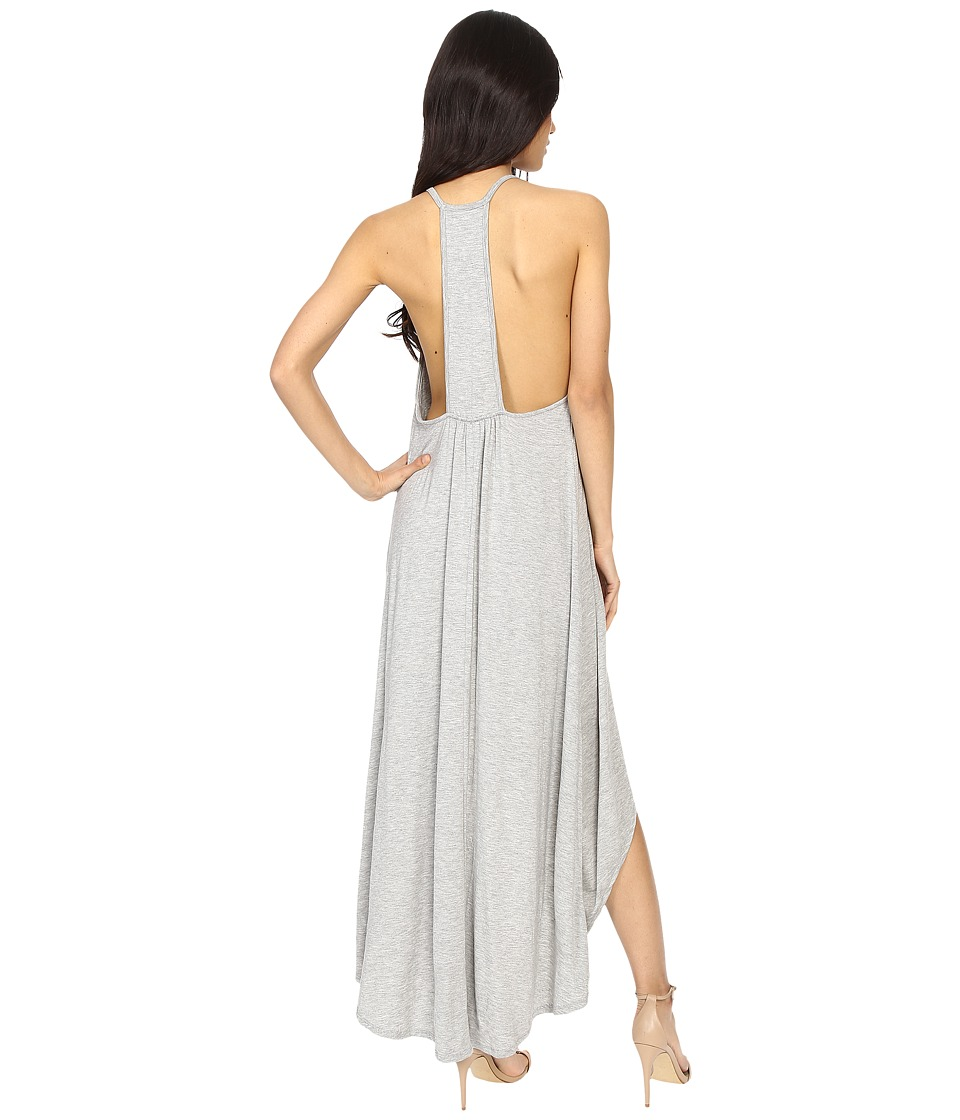 Culture Phit Cynder Spaghetti Strap High-Low Dress (Heather Grey) Women
