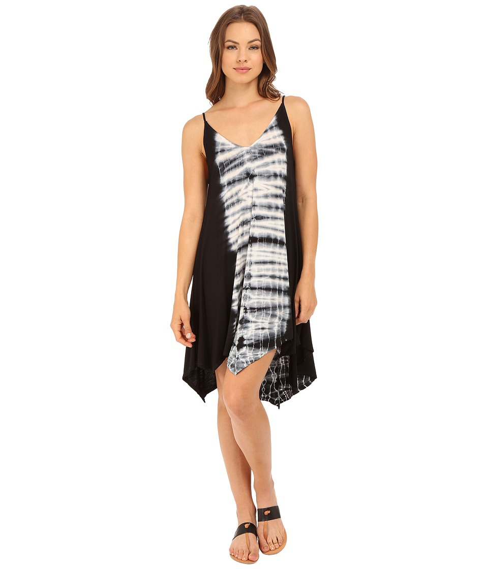 Culture Phit - Esme Spaghetti Strap Tie-Dye Dress (Black/White) Women's Dress