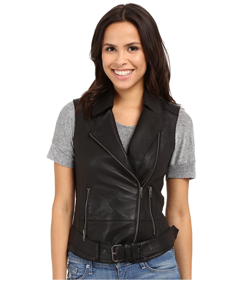 Liebeskind - F1167002 Leather Vest (Caviar) Women's Vest