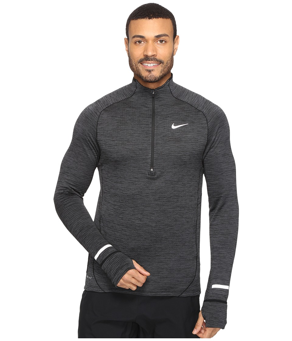 Nike - Element Sphere Half-Zip (Black/Heather/Anthracite/Reflective Silver) Men's Long Sleeve Pullover