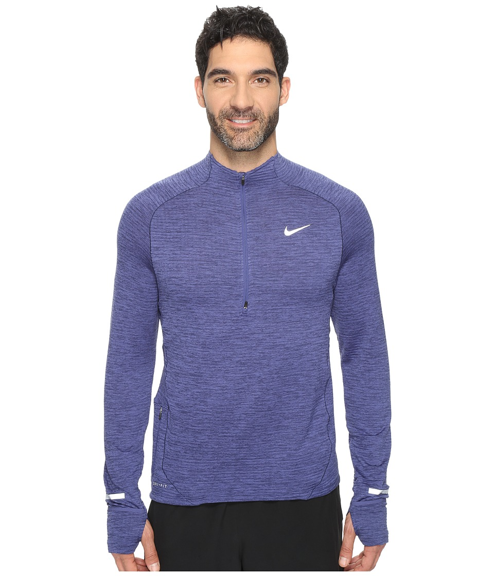 Nike - Element Sphere Half-Zip (Dark Purple Dust/Heather/Reflective Silver) Men's Long Sleeve Pullover