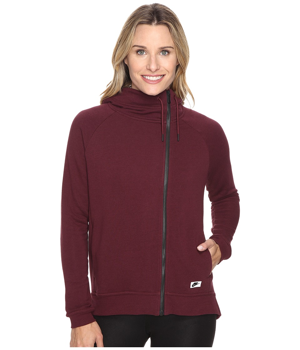 Nike - Sportswear Modern Cape (Night Maroon/Night Maroon/Black Oxidized) Women's Clothing