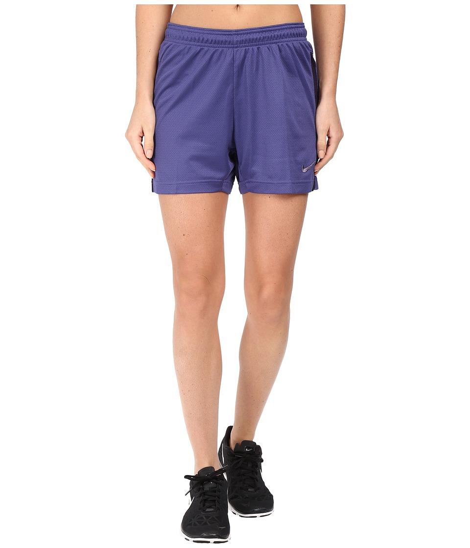 Nike Dri-FIT Academy Knit Shorts (Dark Purple Dust/Purple Dynasty) Women