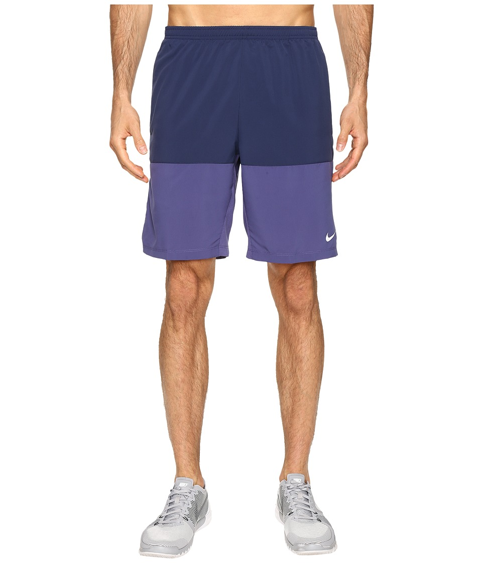 Nike - 9 Distance Running Short (Midnight Navy/Reflective Silver) Men's Shorts