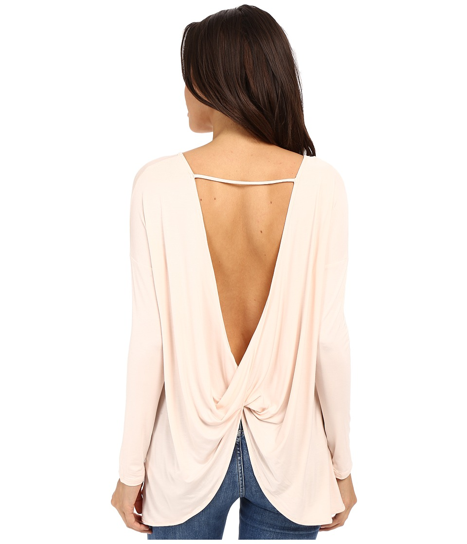 Culture Phit - Brinley Long Sleeve Top with Open Back (Pink) Women's Clothing