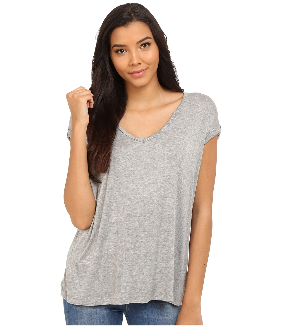Culture Phit - Eydie Short Sleeve Top with Cuffed Sleeves (Heather Grey) Women's Clothing