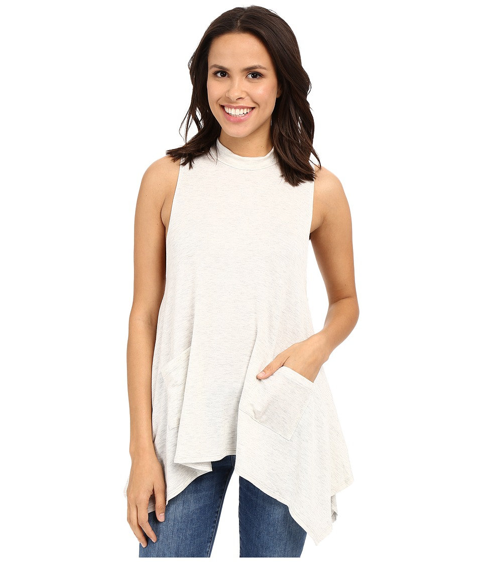 Culture Phit - Darcie Sleeveless Top with Pockets (Heather Grey) Women's Sleeveless