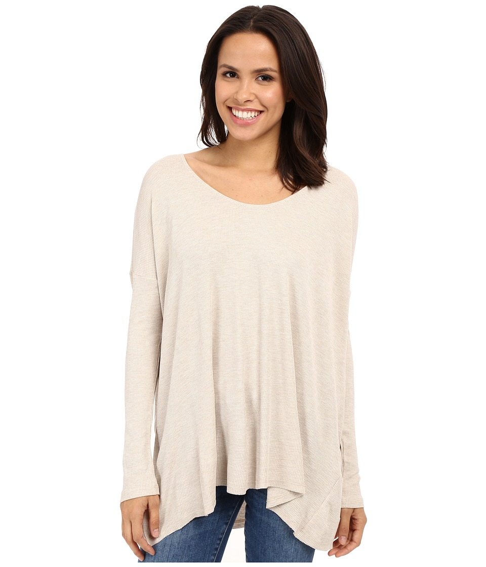 Culture Phit - Calista Waffle Knit Oversized Top (Oatmeal) Women's Clothing