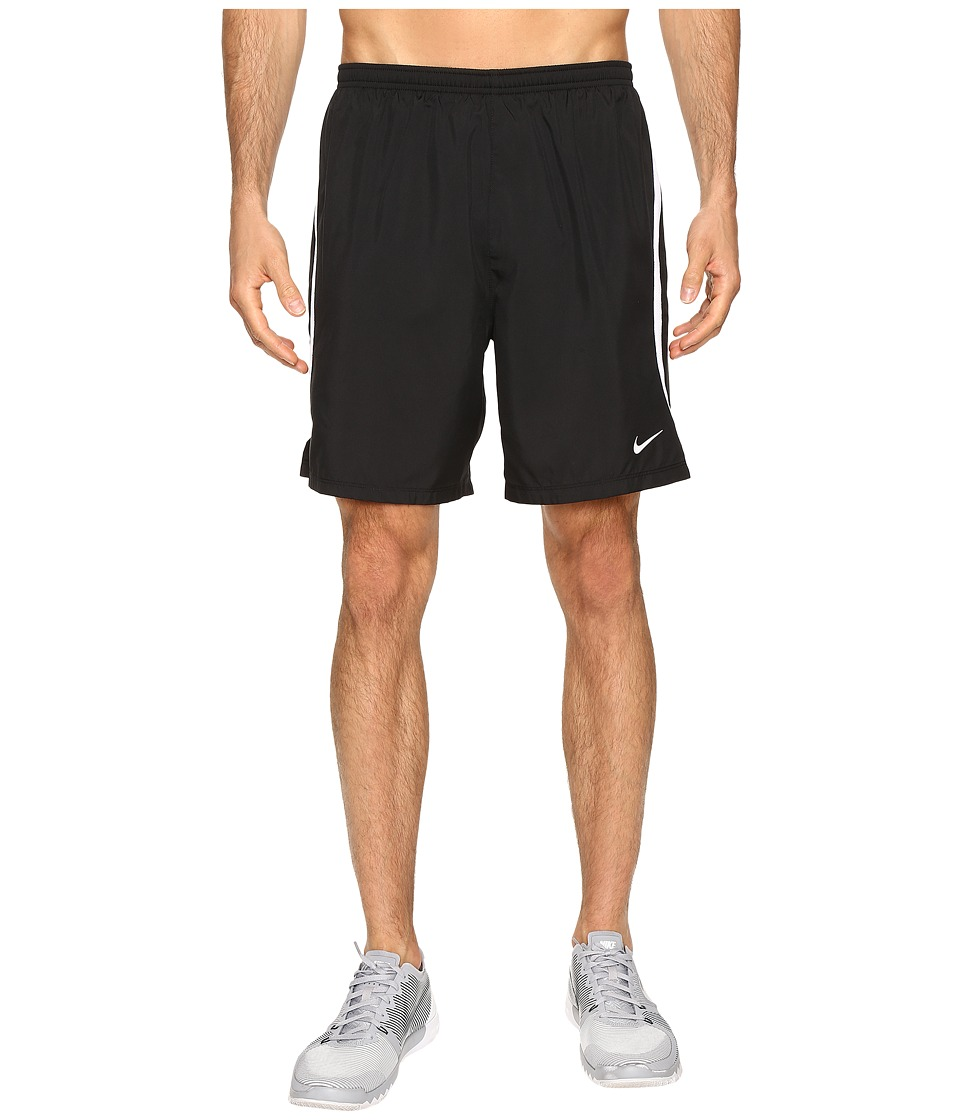 Nike - Dry Challenger 7 2-in-1 Running Short (Black/White/Reflective Silver) Men's Shorts