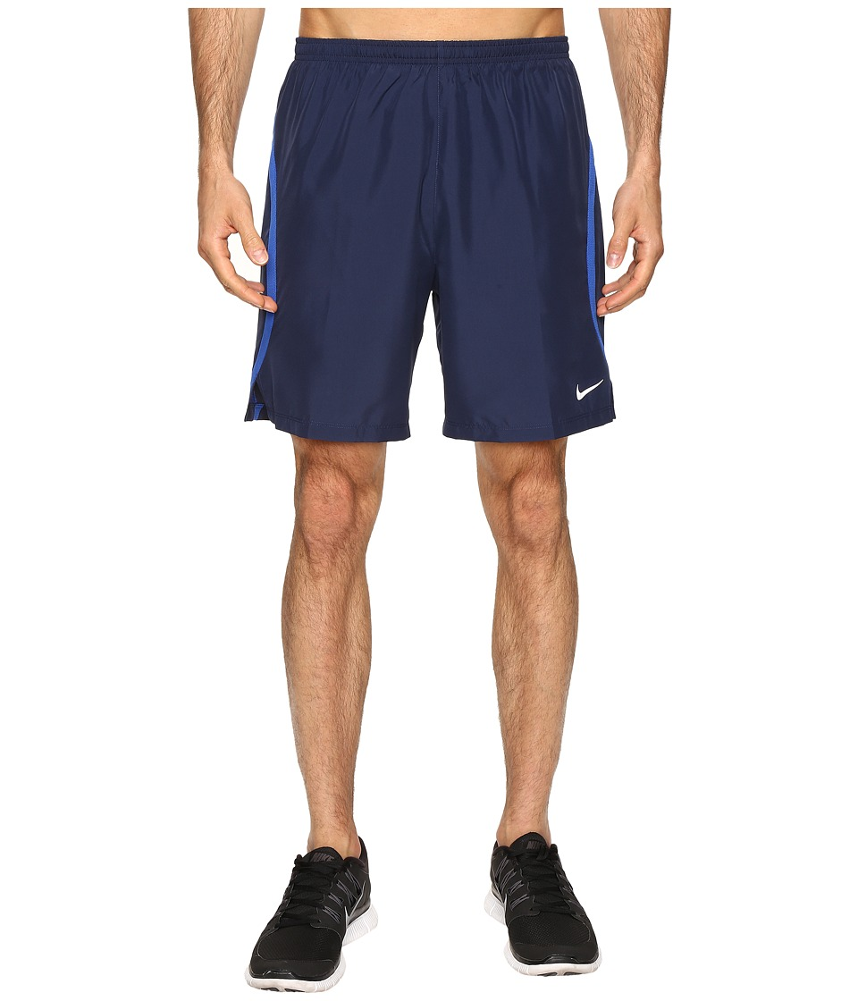 Nike - Dry Challenger 7 2-in-1 Running Short (Midnight Navy/Volt/Reflective Silver) Men's Shorts