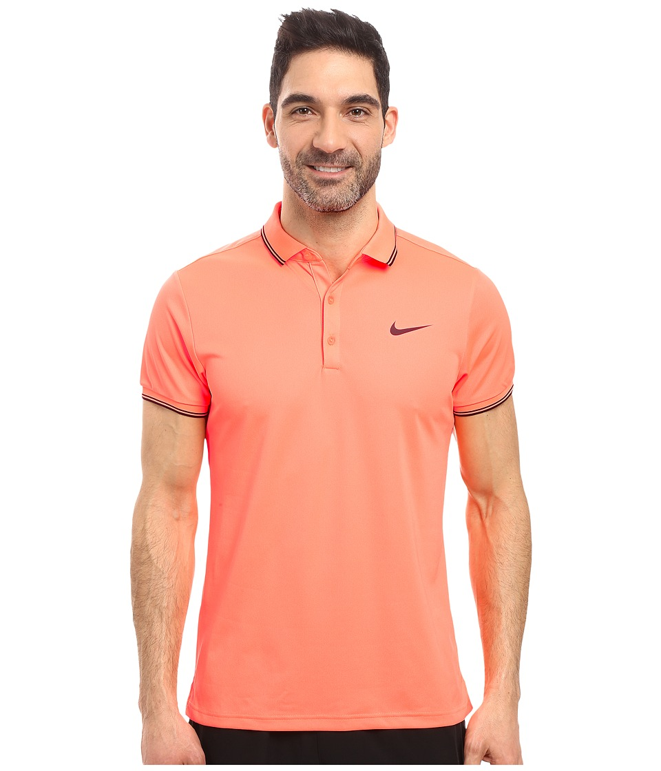 Nike - Court Polo (Bright Mango/Purple Dynasty) Men's Short Sleeve Pullover