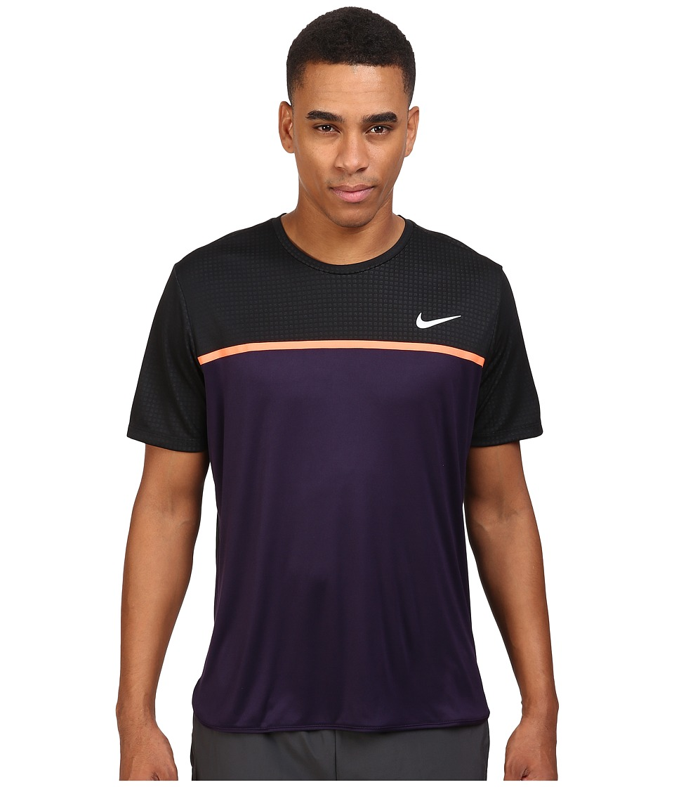Nike - Challenger Crew (Purple Dynasty/Bright Mango/White) Men's T Shirt