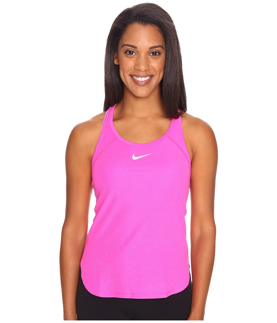 Nike - Court Slam Breathe Tennis Tank Top (Fire Pink/Fire Pink/White) Women's Sleeveless