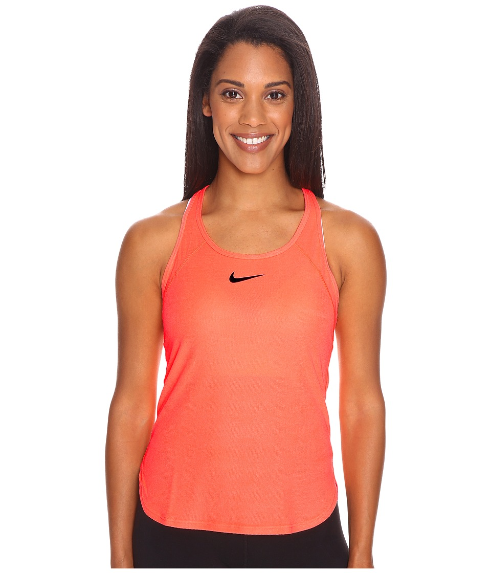 Nike - Court Slam Breathe Tennis Tank Top (Bright Mango/Bright Mango/Purple Dynasty) Women's Sleeveless
