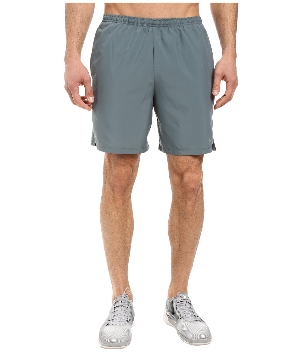 Nike - 7 Challenger Short (Hasta/Green Glow/Reflective Silver) Men's Shorts