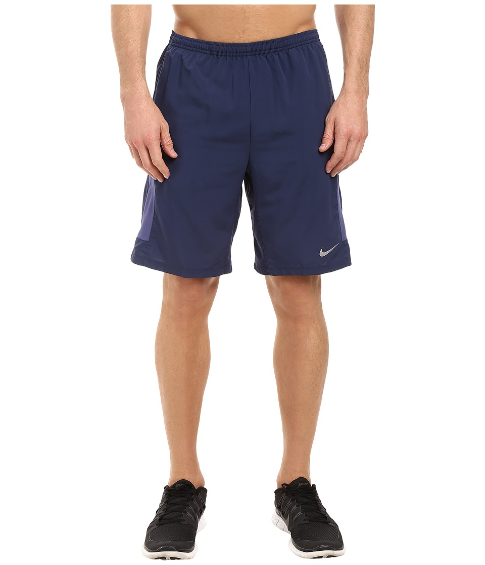 Nike - 9 Freedom Running Short (Midnight Navy/Reflective Silver) Men's Shorts
