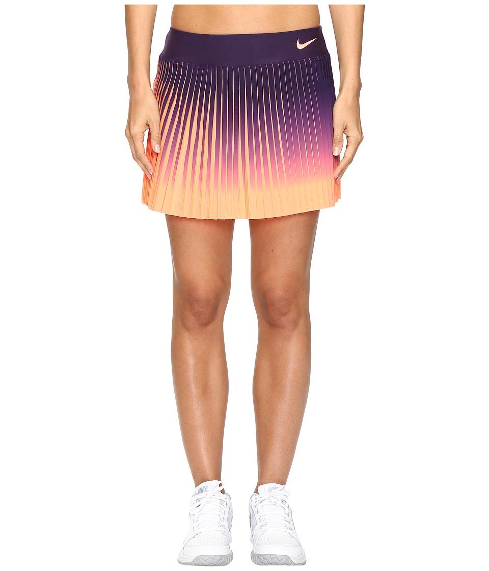 Nike - Court Flex Victory Skirt (Purple Dynasty/Bright Mango) Women's Skirt