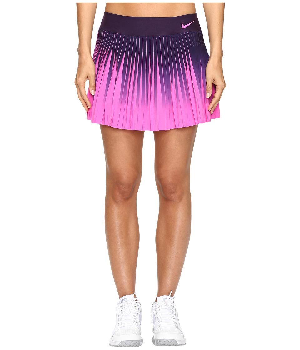 Nike - Court Flex Victory Skirt (Purple Dynasty/Fire Pink) Women's Skirt