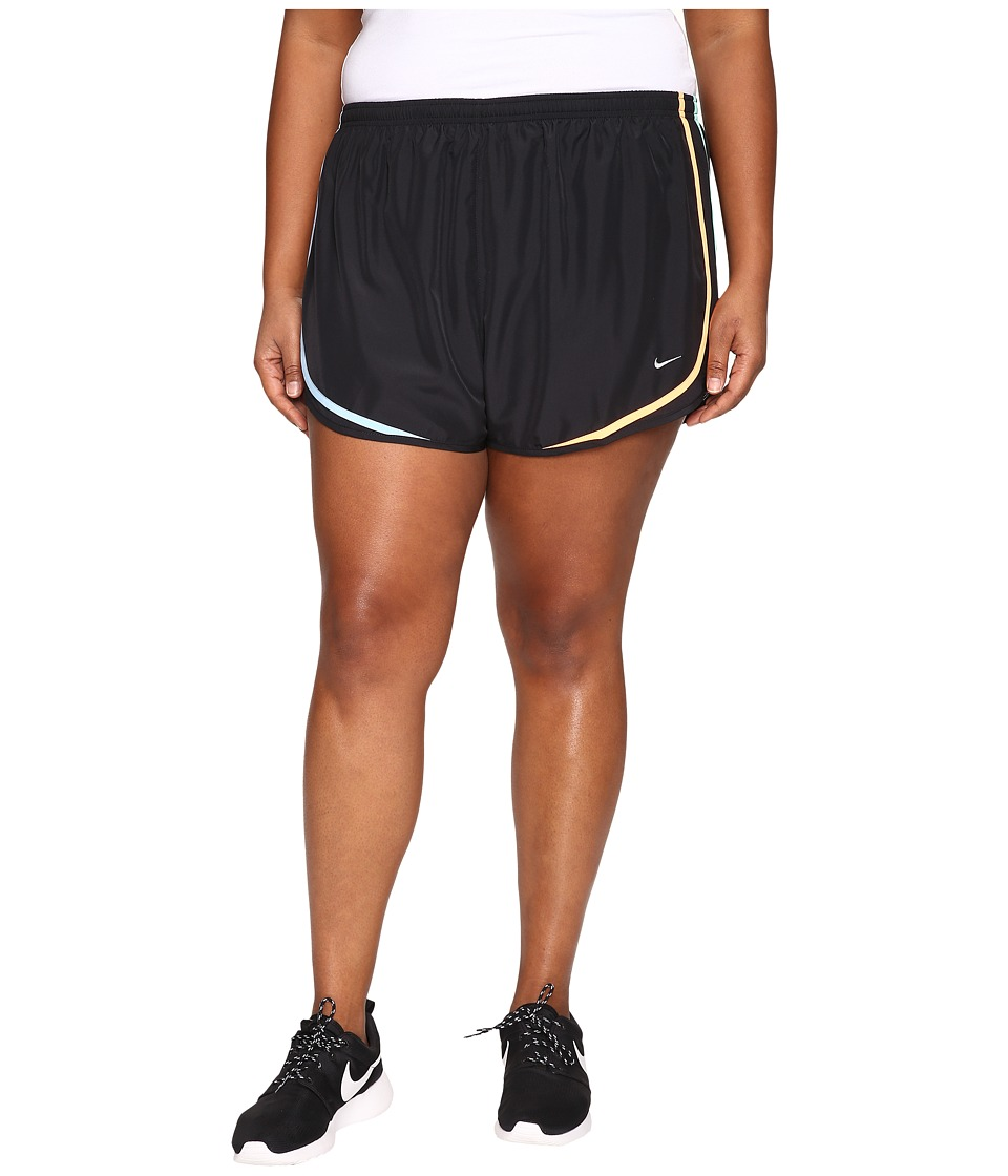 Nike Dry Tempo Running Short (Size 1X-3X) (Black/Urban Lilac/Wolf Grey) Women