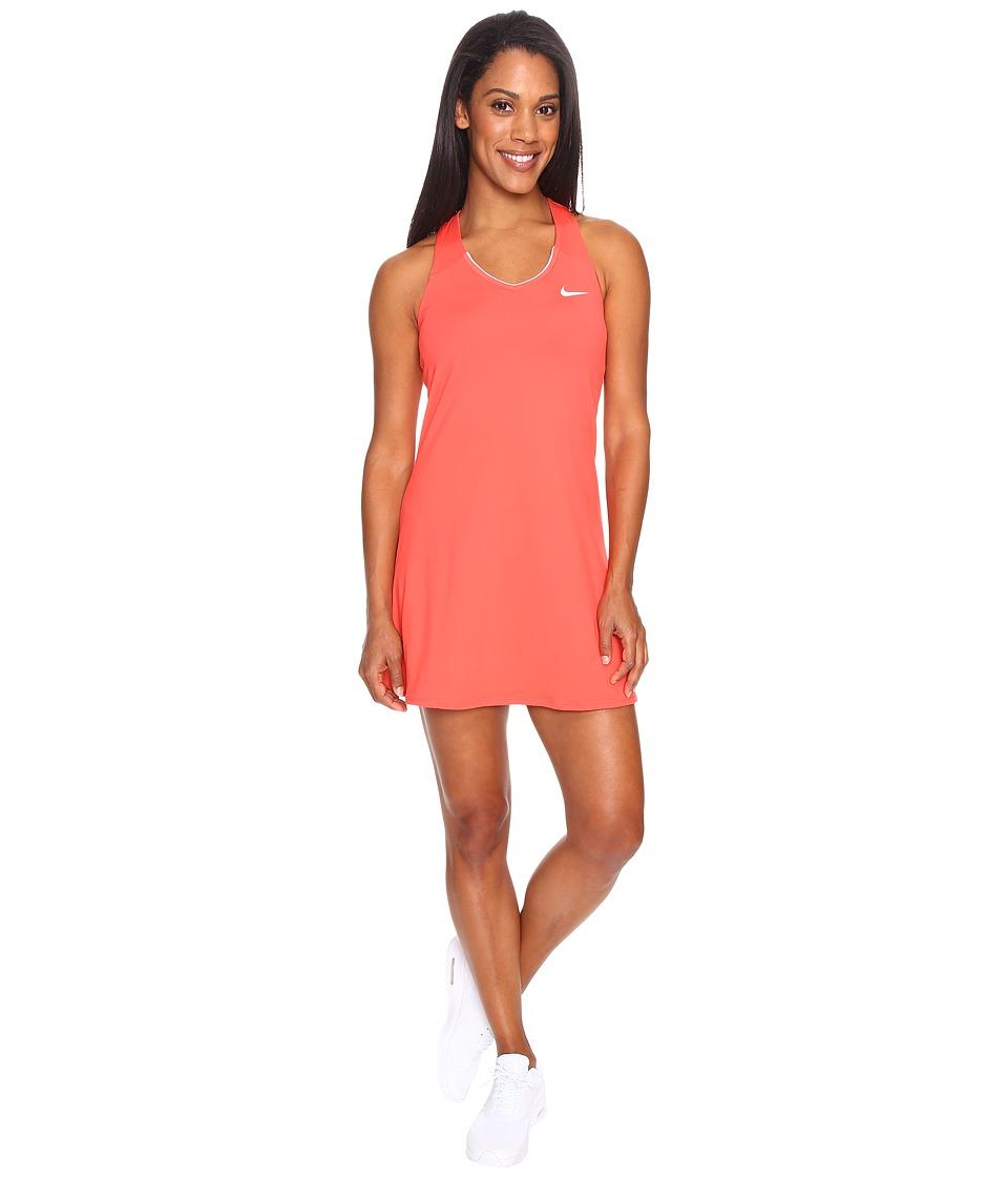 Nike - Court Pure Tennis Dress (Ember Glow/White) Women's Dress