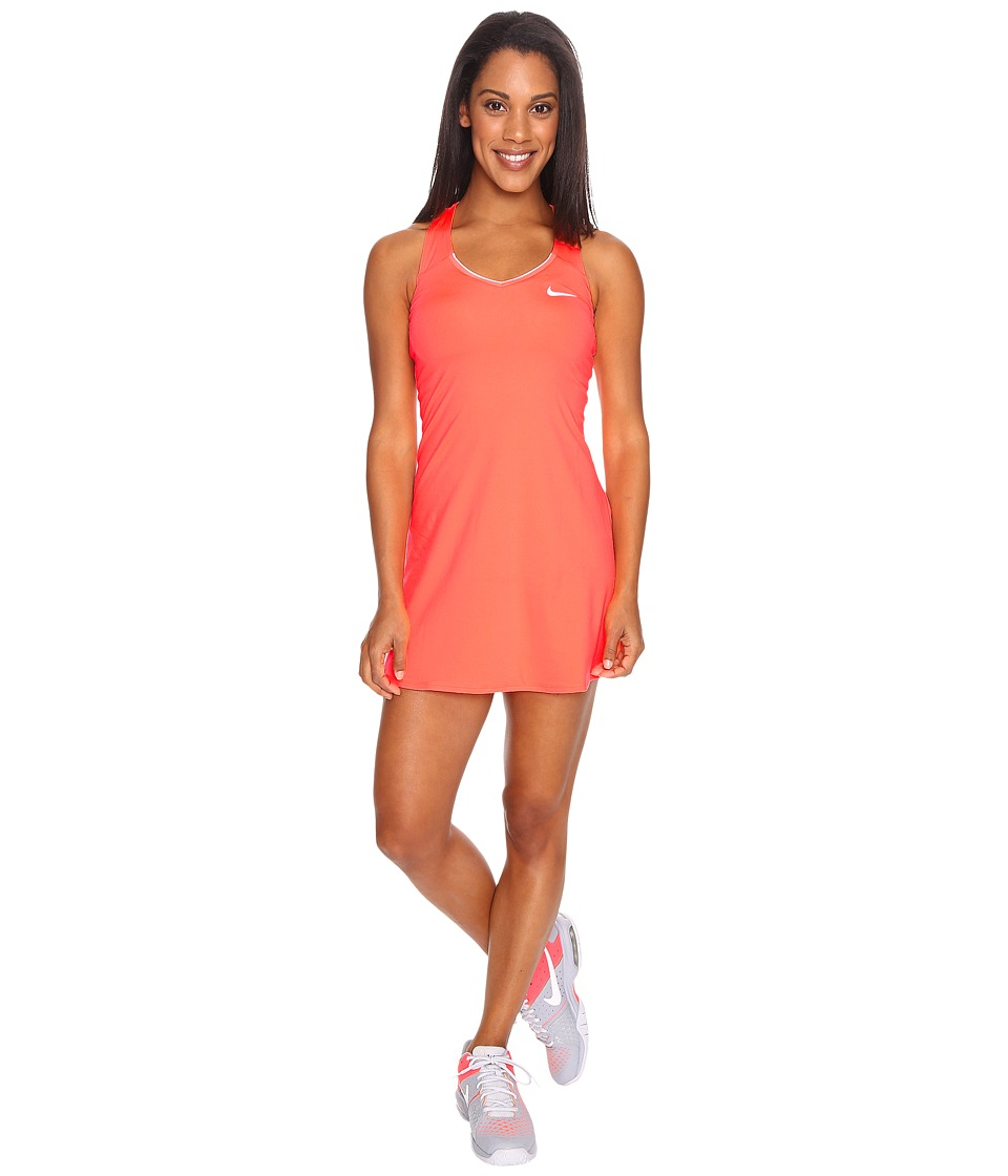 Nike - Court Pure Tennis Dress (Bright Mango/White) Women's Dress