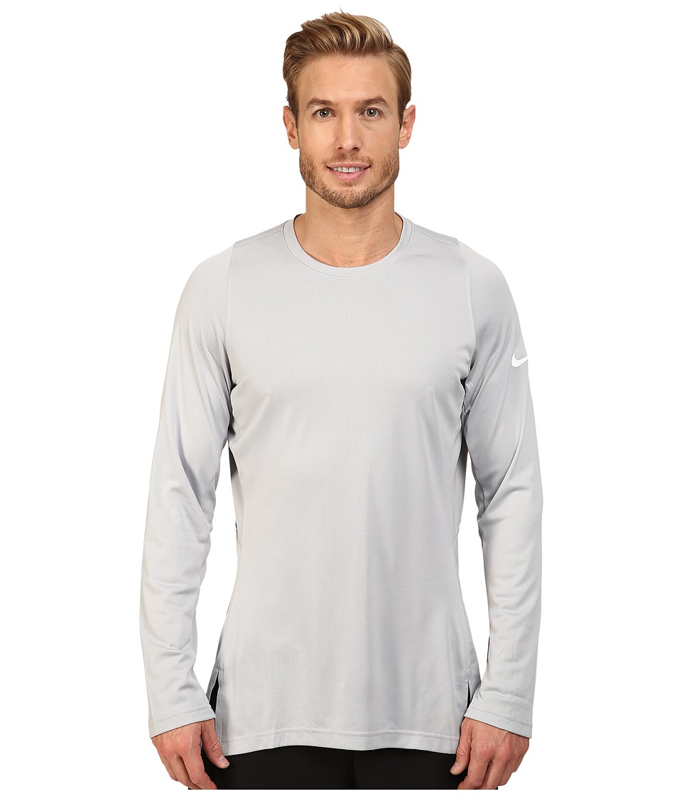 Nike - Crossover 2.0 Long Sleeve Top (Wolf Grey/Wolf Grey/White) Men's Sweatshirt