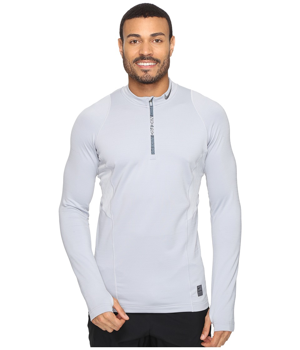 Nike - Pro Hyperwarm 1/4 Zip Training Top (Wolf Grey/Wolf Grey/Dark Grey) Men's Clothing