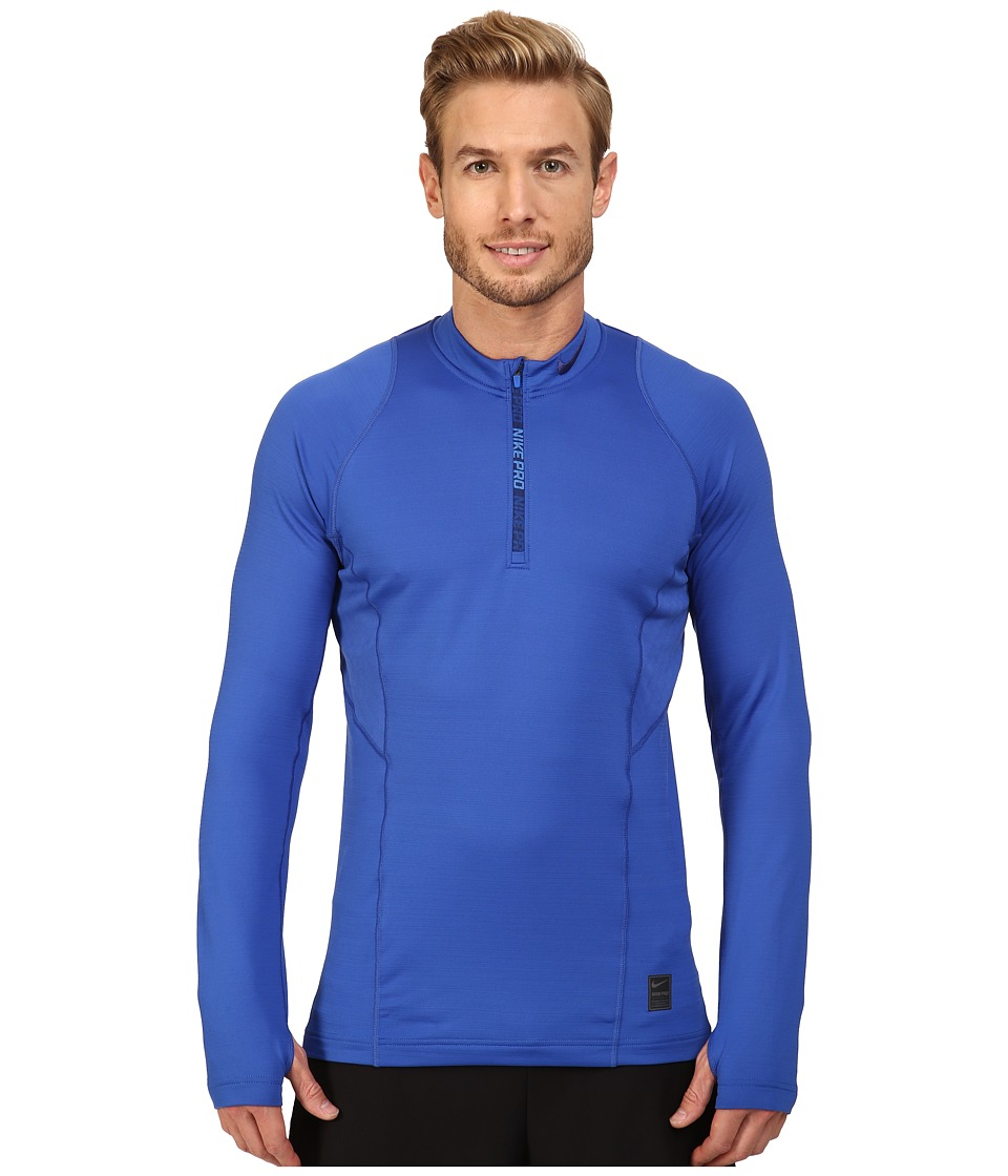 Nike - Pro Hyperwarm 1/4 Zip Training Top (Game Royal/Game Royal/Deep Royal Blue) Men's Clothing