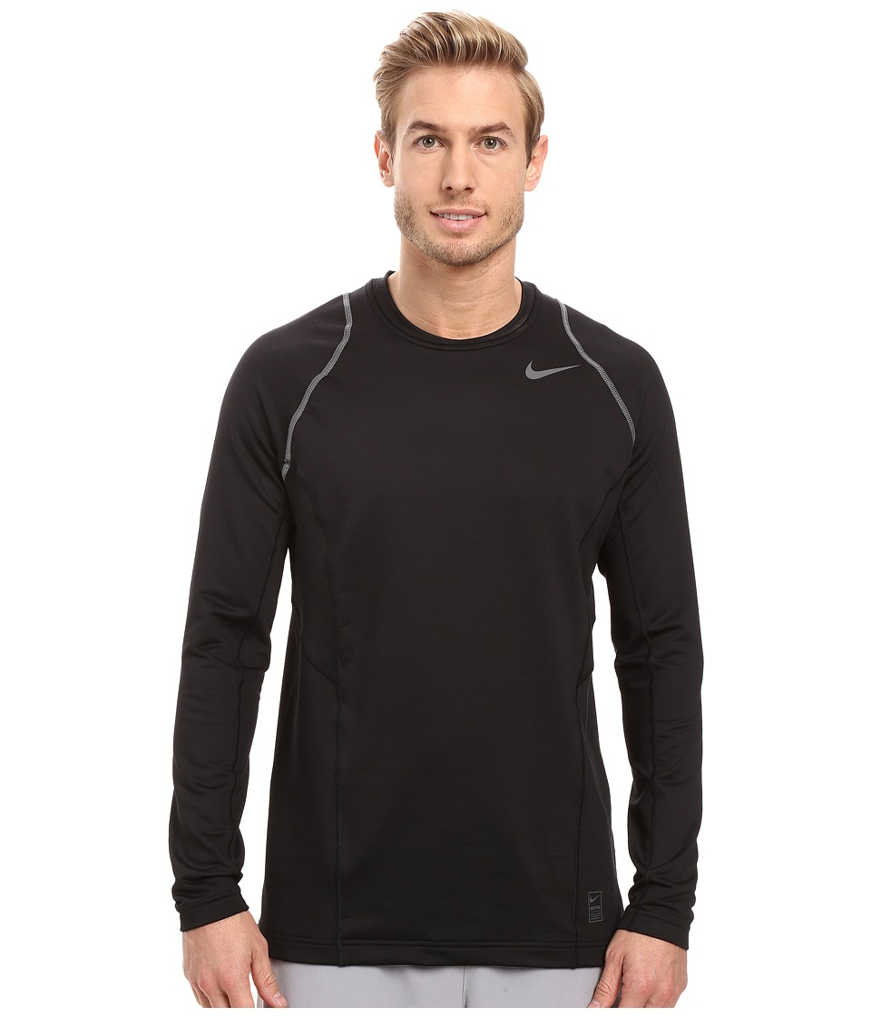 Nike - Pro Hyperwarm Long Sleeve Training Top (Black/Dark Grey/Dark Grey) Men's Clothing