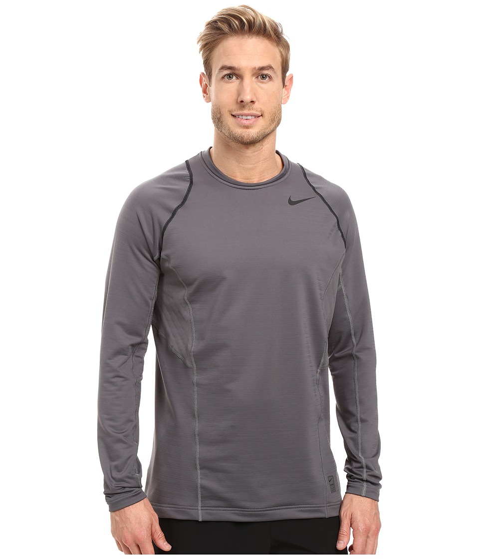 Nike - Pro Hyperwarm Long Sleeve Training Top (Dark Grey/Black/Black) Men's Clothing