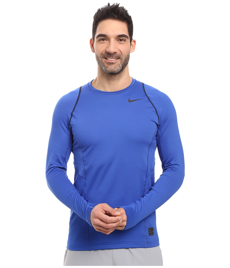 Nike - Pro Hyperwarm Long Sleeve Training Top (Game Royal/Black/Black) Men's Clothing