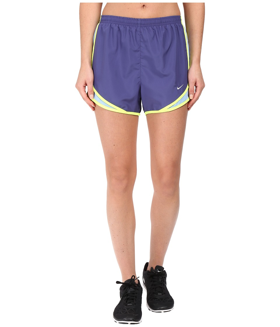 Nike - Tempo Short (Dark Purple Dust/Light Blue/Volt/Wolf Grey) Women's Workout