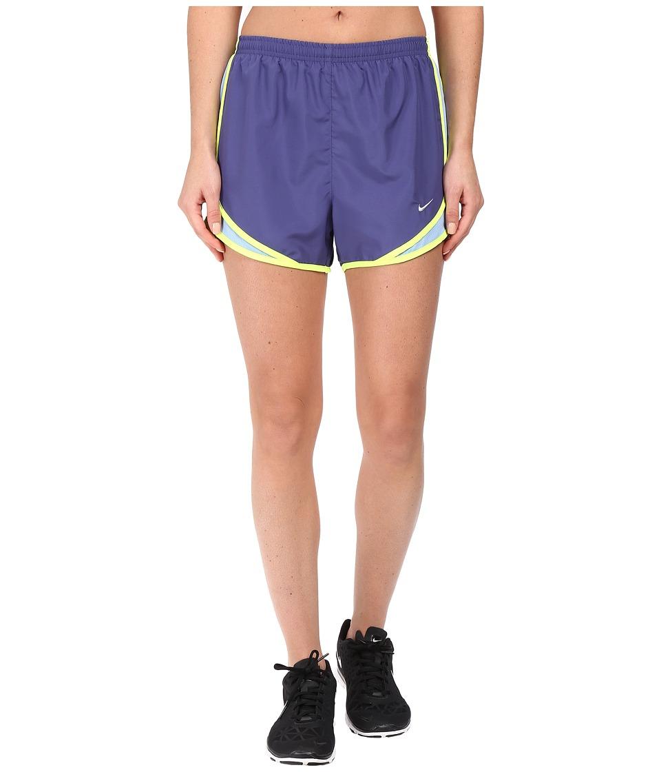 Nike - Tempo Short (Dark Purple Dust/Light Blue/Volt/Wolf Grey) Women's Workout