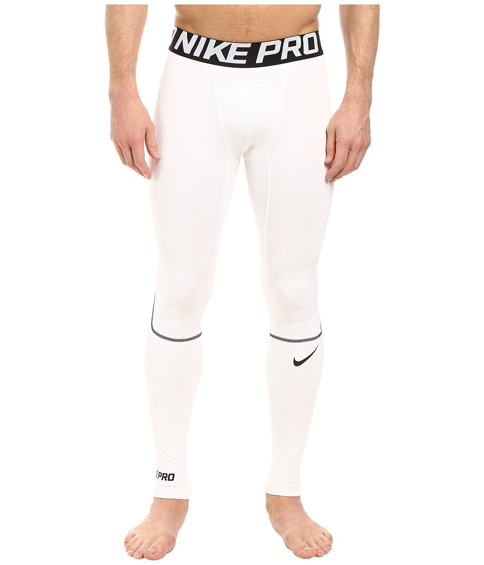 Nike - Pro Hyperwarm Training Tight (White/Black/Black) Men's Workout