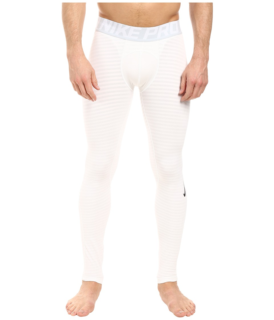 Nike - Pro Warm Training Tight (White/Pure Platinum/Black) Men's Casual Pants