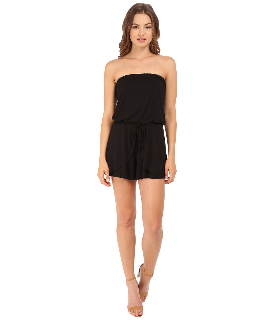 Culture Phit - Faylin Strapless Romper (Black) Women's Jumpsuit & Rompers One Piece