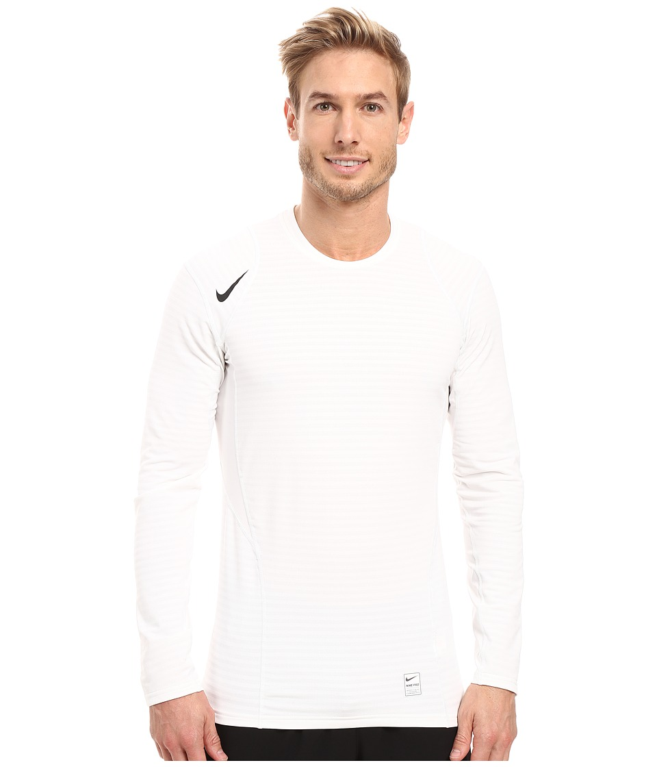 Nike - Pro Warm Long Sleeve Training Top (White/Pure Platinum/Black/Black) Men's Clothing