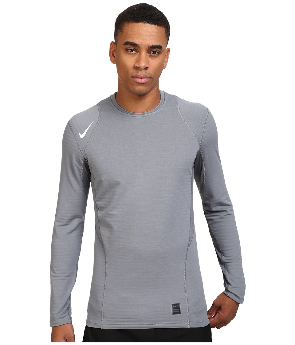 Nike - Pro Warm Long Sleeve Training Top (Cool Grey/Black/White) Men's Clothing
