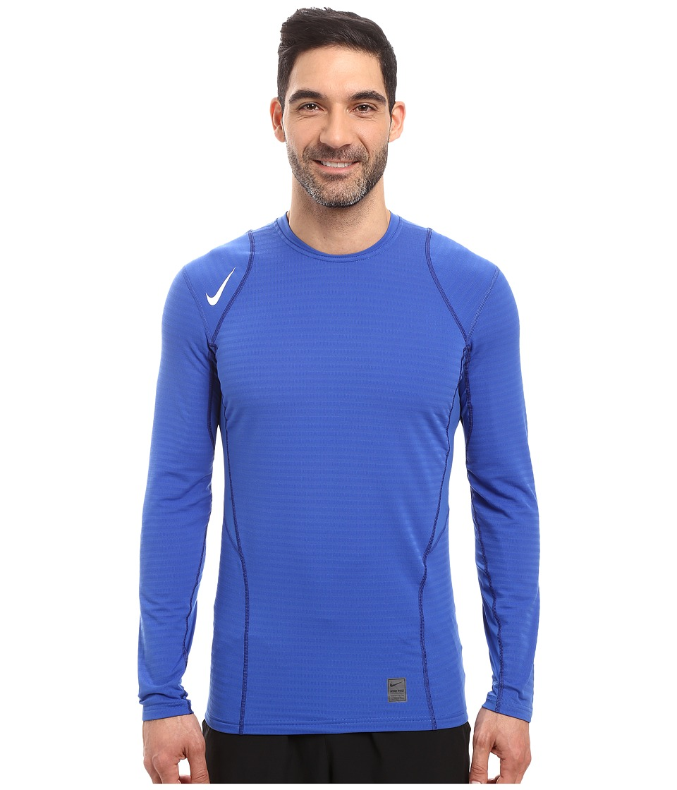 Nike - Pro Warm Long Sleeve Training Top (Game Royal/Deep Royal Blue/White) Men's Clothing