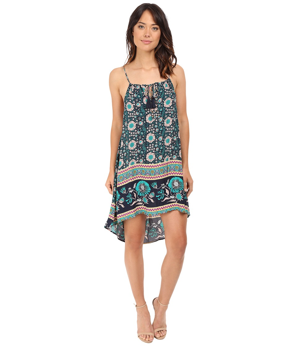 Brigitte Bailey - Aquielle Strappy Dress with Tassel Front Tie (Jade Print) Women's Dress