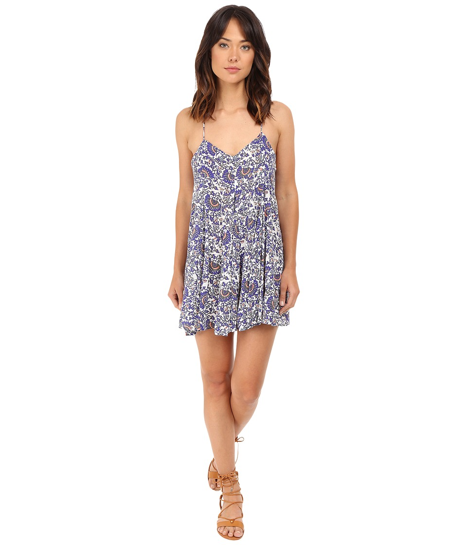 Brigitte Bailey - Dajana Strappy Printed Dress (Blue Print) Women's Dress
