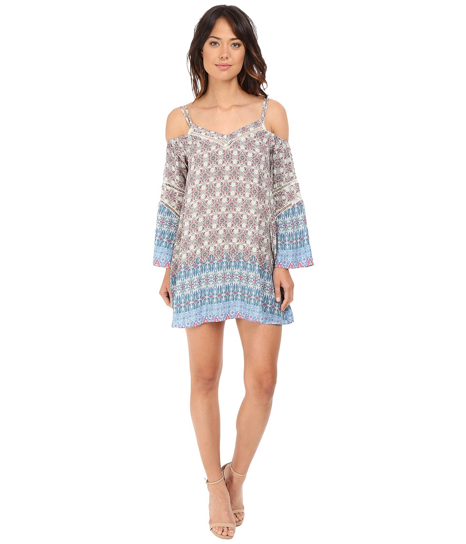 Brigitte Bailey - Waverly Spaghetti Strap Dress with Lace Inset (Multi) Women's Dress