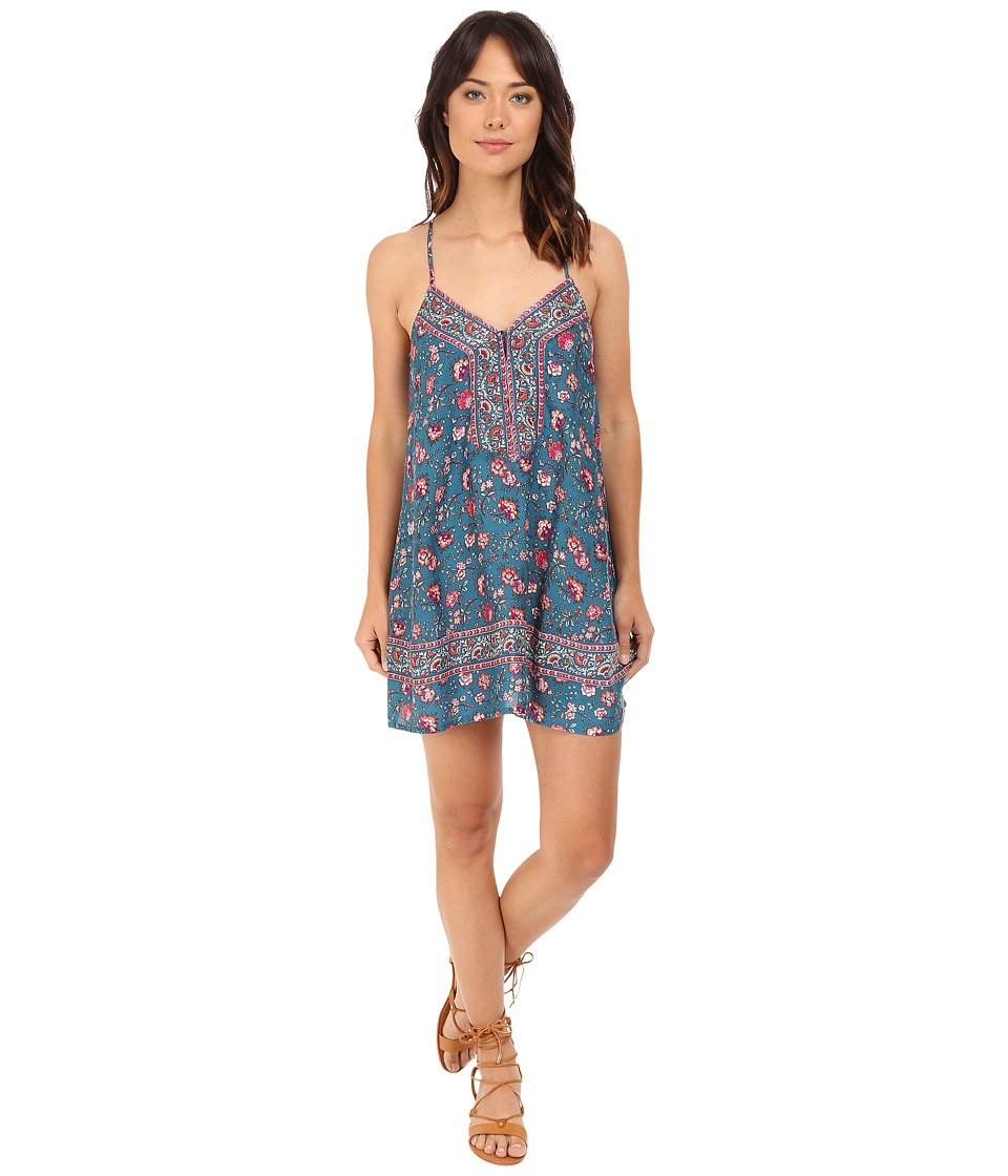Brigitte Bailey - Asbel Floral Print Strappy Dress (Teal Print) Women's Dress