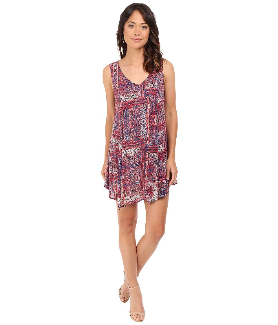 Brigitte Bailey - Shelby Uneven Hem Printed Dress (Red/Blue) Women's Dress