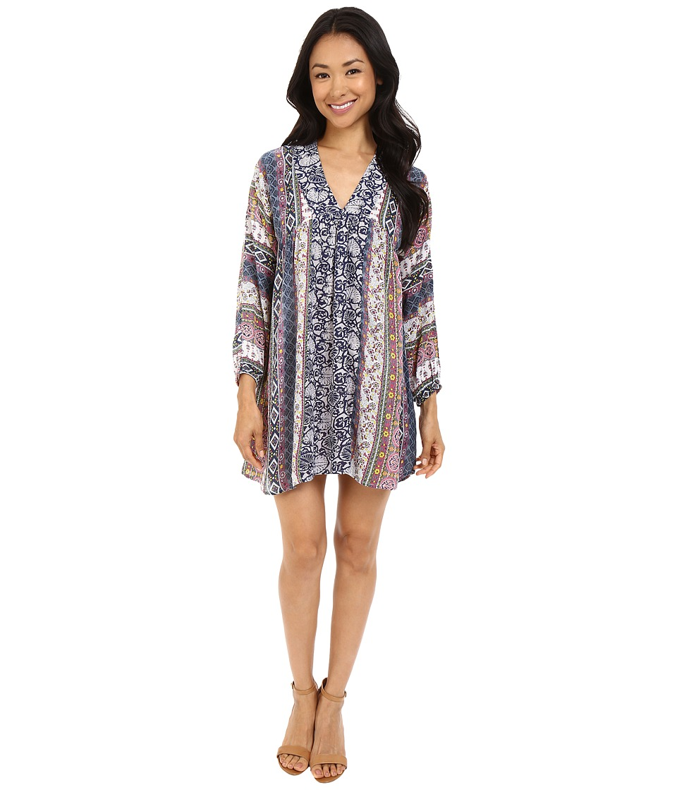 Brigitte Bailey - Zillah Printed Long Sleeve Dress (Multi) Women's Dress
