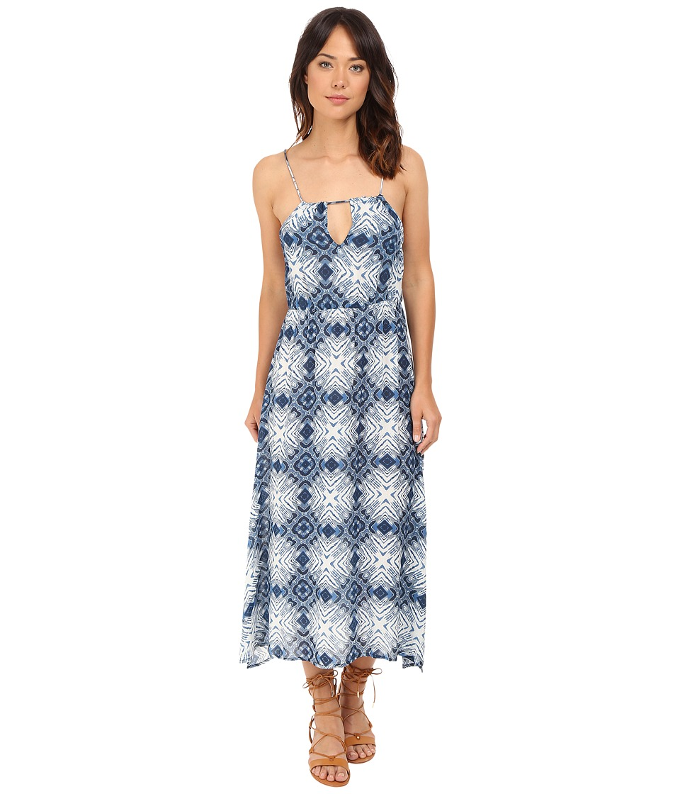 Brigitte Bailey - Vaughn Strappy Maxi Dress with Open Back (Navy/White) Women's Dress